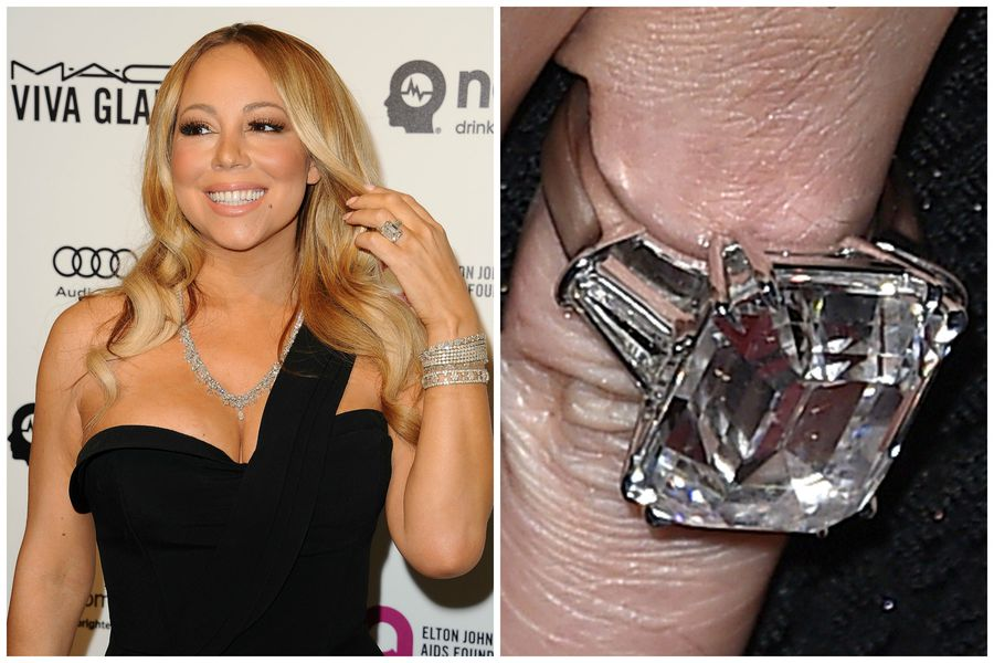 The Emerald Cut Style Fiance James Packer Gifted Her In January 2016 Is At 35 Massive Carats Bigger Than Both Beyonce And Kim Kardashians Rings