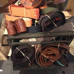 Belts, $60
