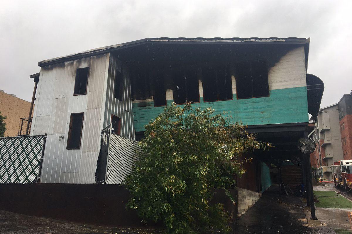 Franklin Barbecue's fire damage