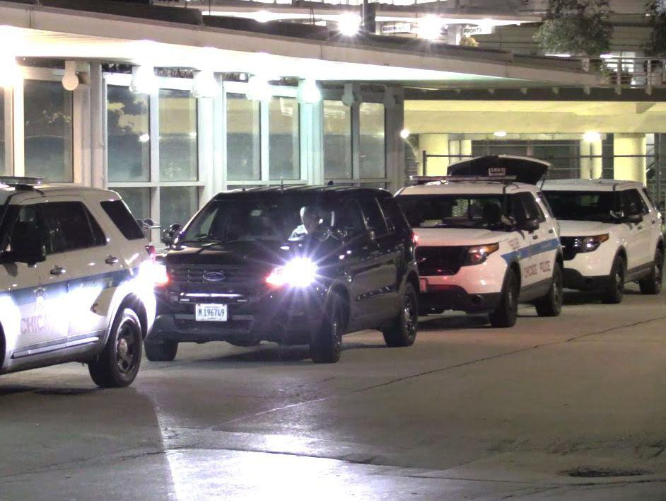 Police investigate a man stabbed early Wednesday at Terminal 5 at Chicago O'Hare International Airport | Justin Jackson/Sun-Times