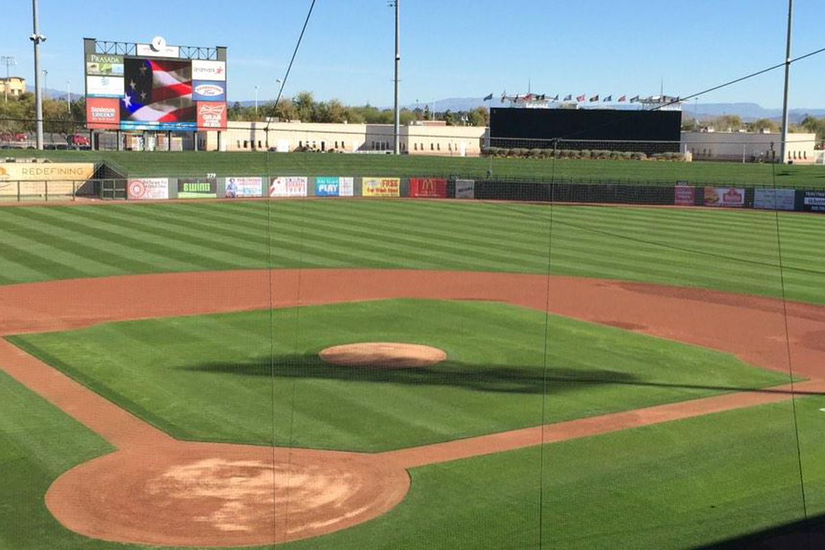 It's no surprise that is beautiful weather for baseball in Surprise, AZ, on Valentine's Day!