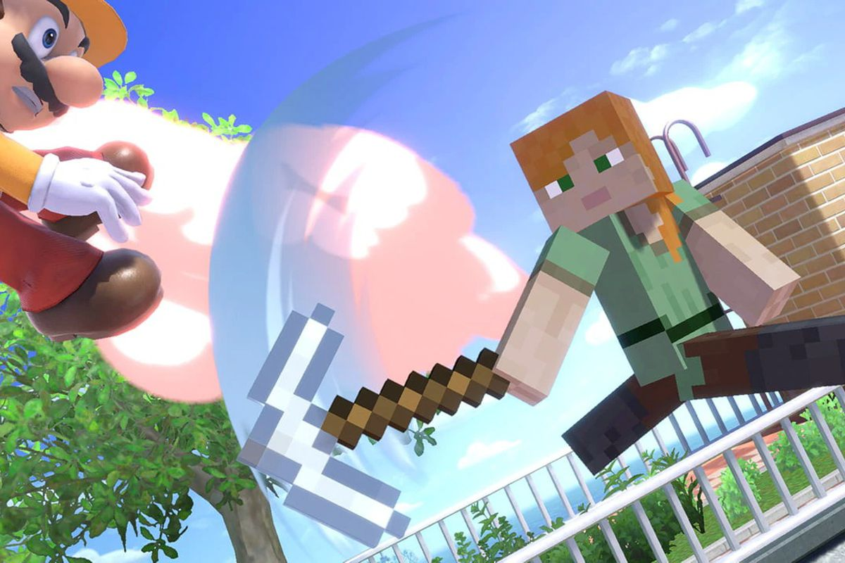 Fortnite Smash Bros Map The Minecraft Smash Bros Character Does As Much Mining As Fighting The Verge