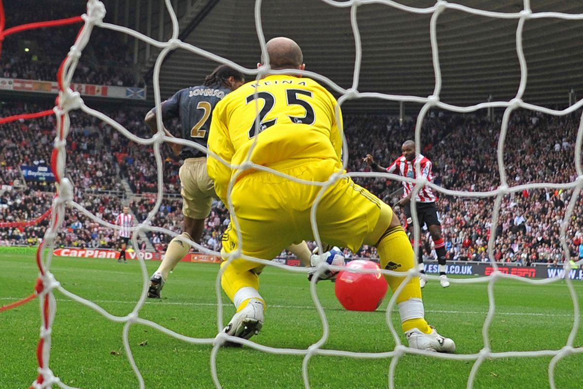 Sunderland's English forward Darren Bent