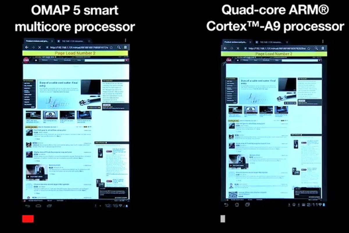 TI processor comparison