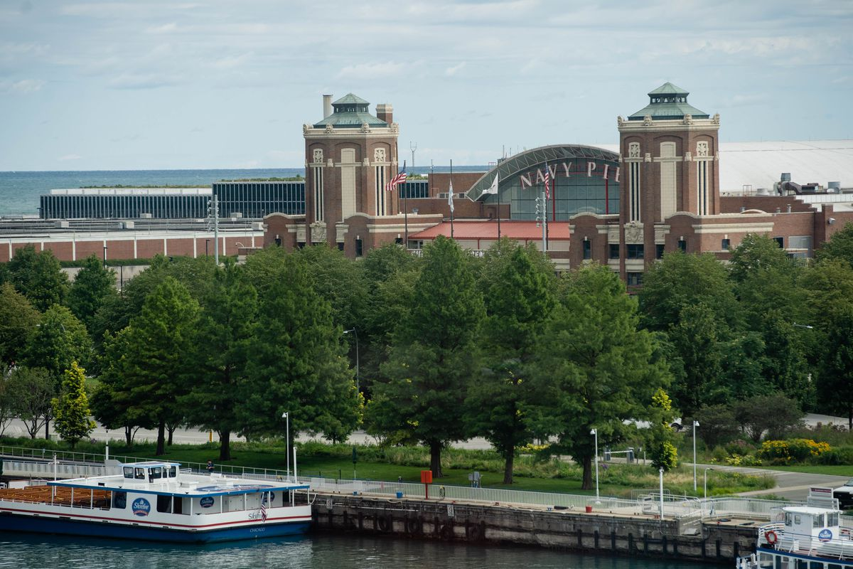Navy Pier, which will close on Sept. 8 to minimize its losses, is seen in this photo Tuesday morning, Aug. 18, 2020.