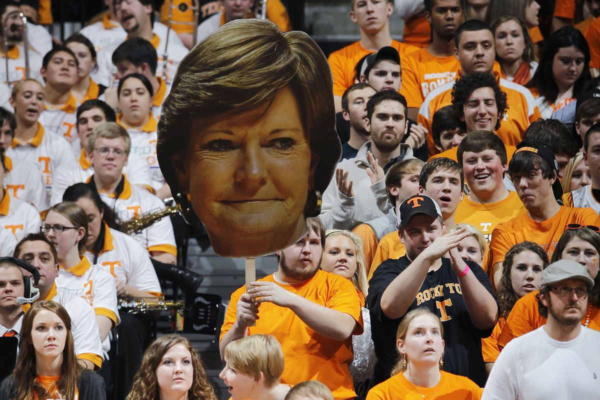 Hint:  this head does not contain the mental issues with the Lady Vols. (Photo by Joe Robbins/Getty Images)