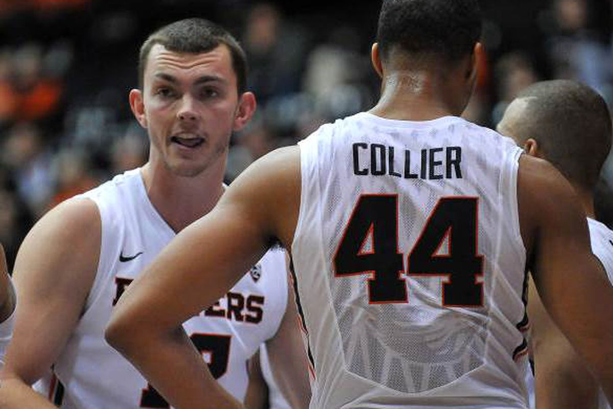 Angus Brandt should be back in action for Oregon St. tonight. He and Collier will need to carry the load in the Beaver frontcourt.