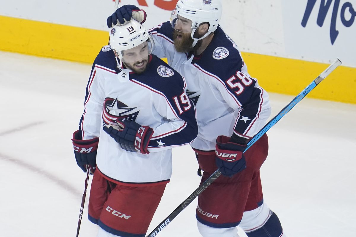 NHL: Eastern Conference Qualifications-Columbus Blue Jackets at Toronto Maple Leafs