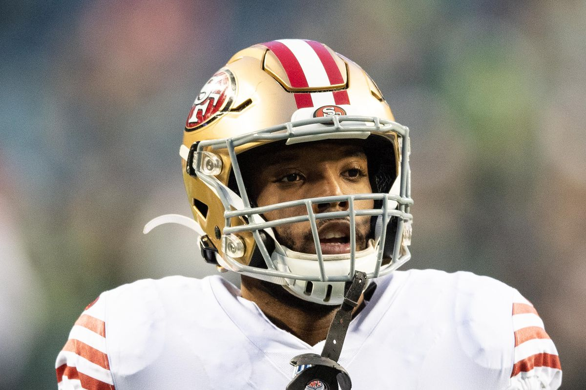 San Francisco 49ers running back Matt Breida during warmups prior to the game against the Seattle Seahawks at CenturyLink Field.