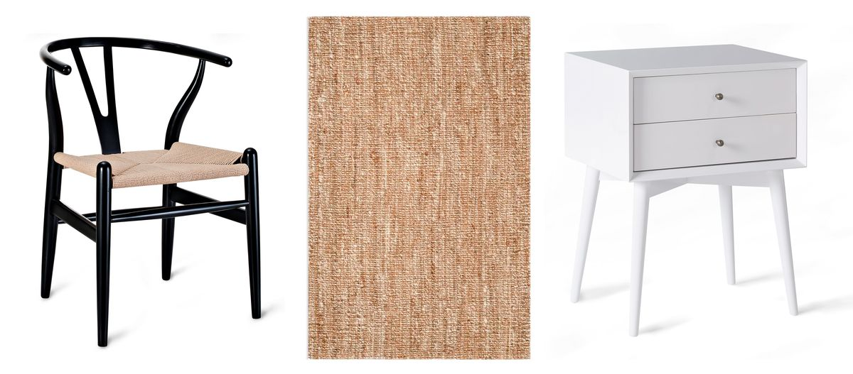 Spring 2021, Designer Q&A, chair, rug, nightstand