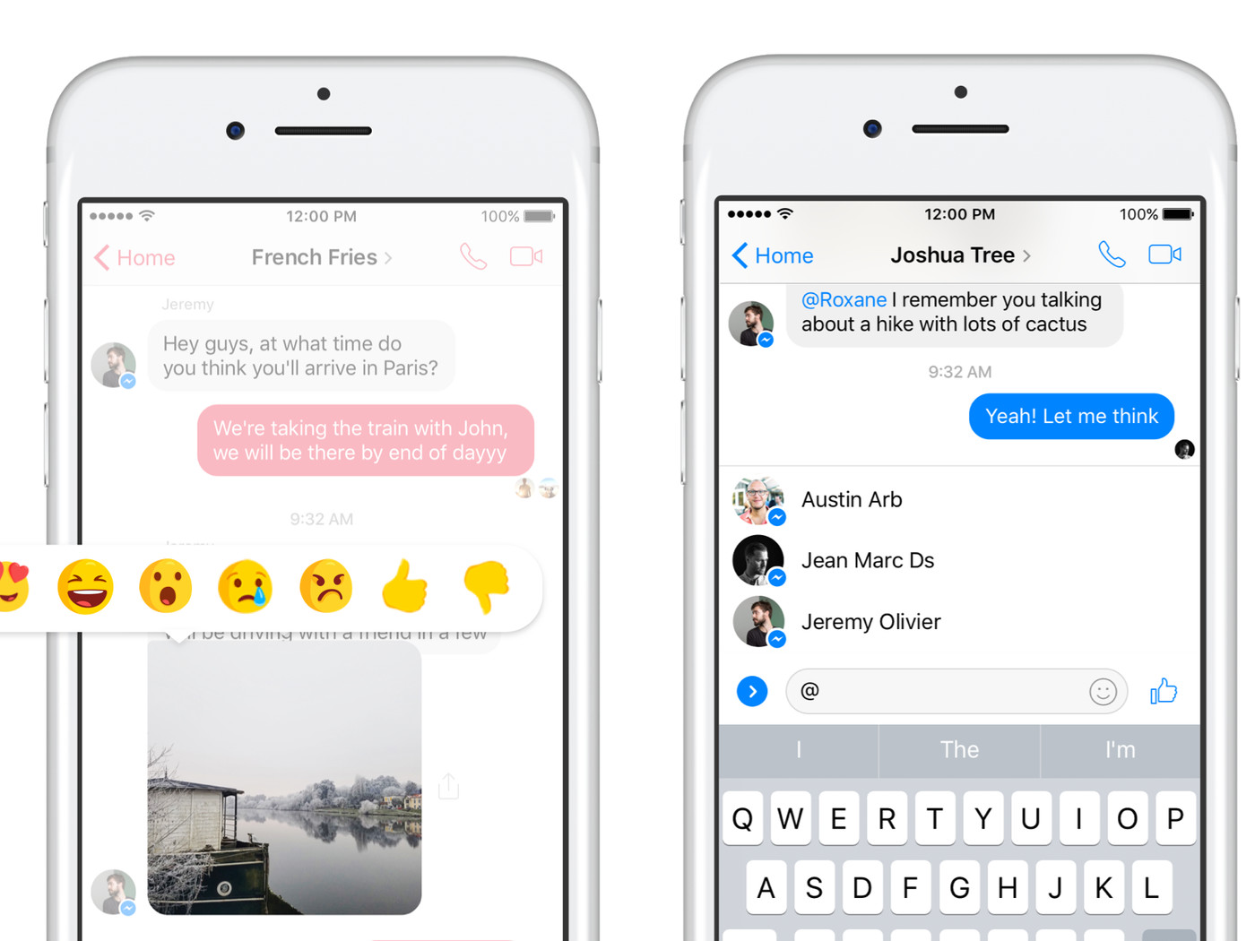 Facebook Messenger gets reactions for individual messages and