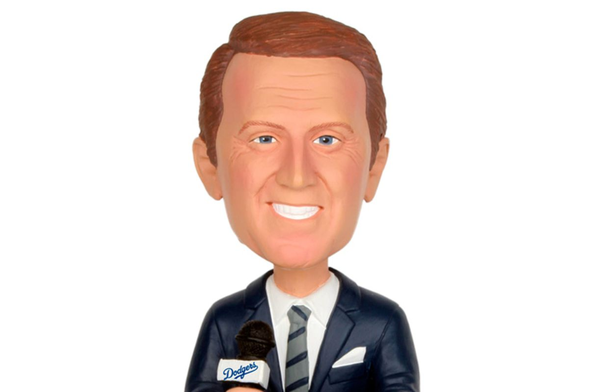 This Vin Scully bobblehead was given out in 2012.