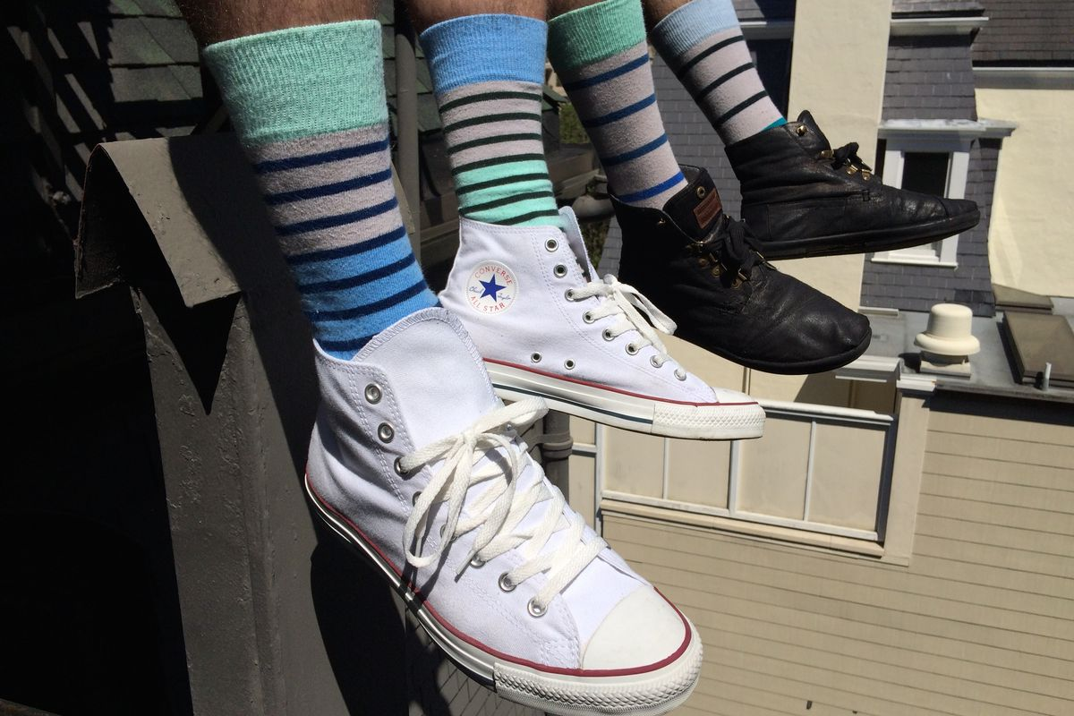 """Image via SWAP Socks/<a href=""""https://www.indiegogo.com/projects/swap-socks-mismatched-socks-for-the-world-to-see"""">Indiegogo</a>"""