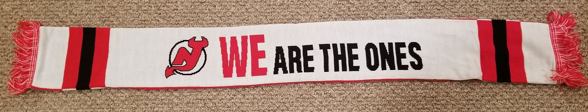 The White Half of the New Jersey Devils STH Scarf