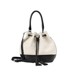 """Linen Bucket Bag in Black, $158 at <a href=""""http://www.anntaylor.com/ann/product/AT-Accessories/AT-View-All/Linen-Bucket-Bag/305937?colorExplode=false&skuId=13616830&catid=cata000023&productPageType=fullPriceProducts&defaultColor=6600"""">Ann Taylor</a>"""