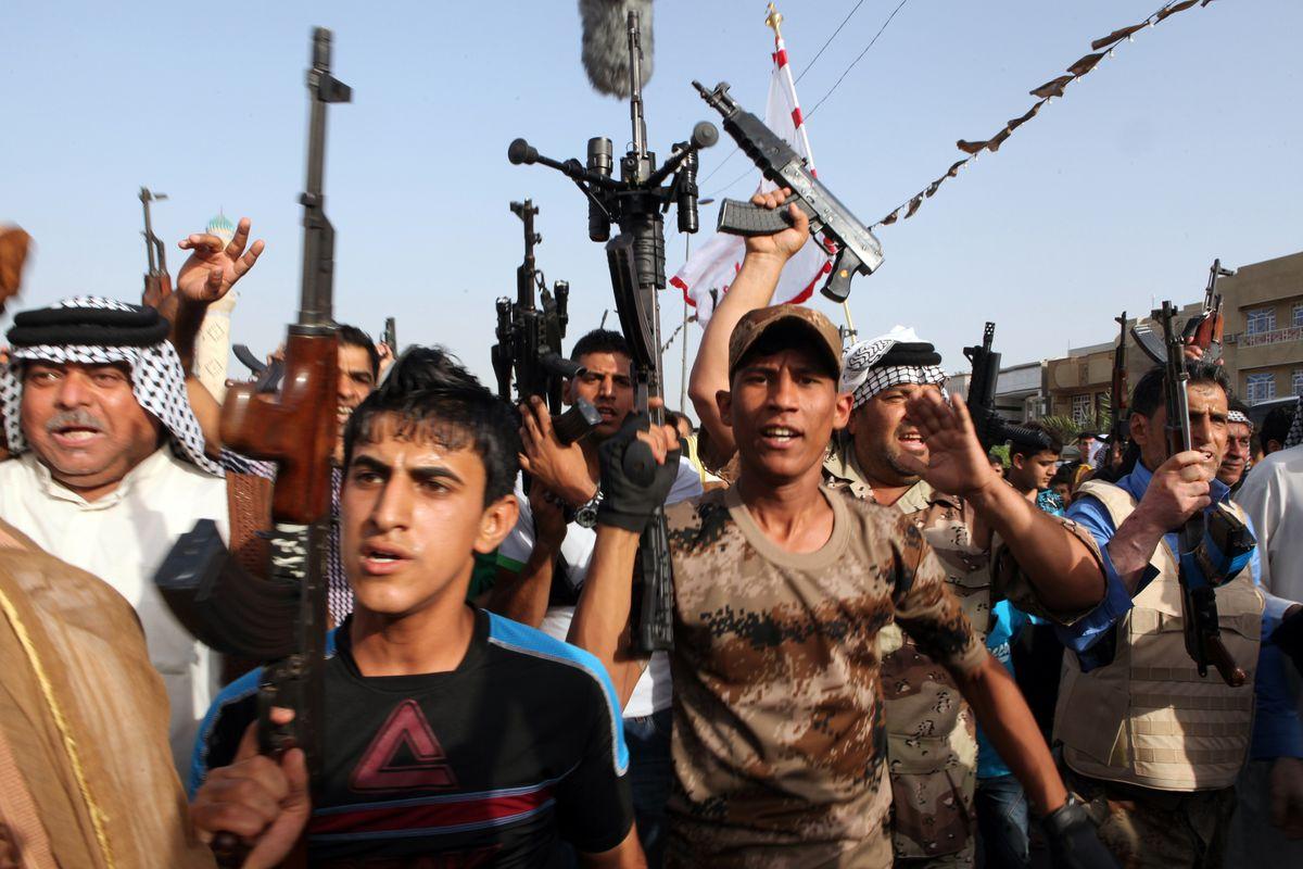 Recruits for an Iraqi Shia militia.
