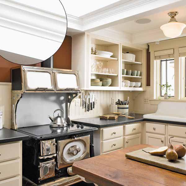 Coffered Ceiling Trim in Kitchen