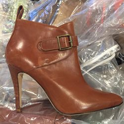 Leather ankle boot, size 37, $250