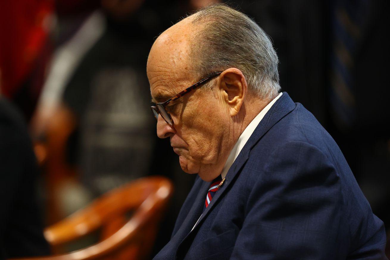 Rudy Giuliani Appears Before Michigan State Legislature's House Oversight Committee