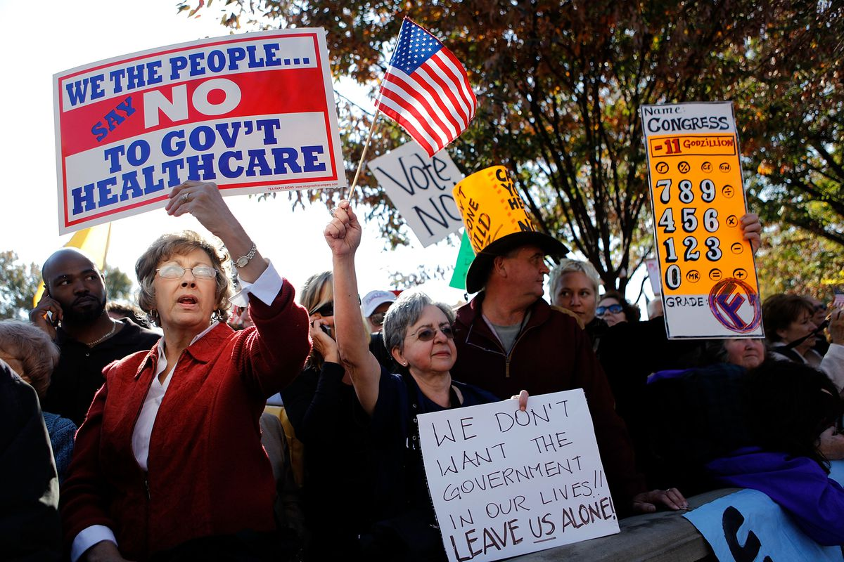 Various Health Care Reform Opponents Protest On Capitol Hill