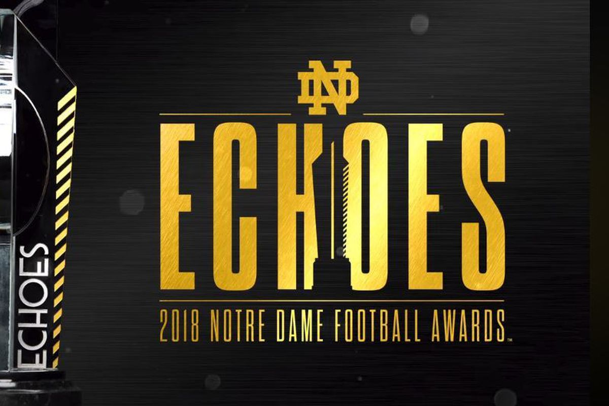 Notre Dame Football: 2018 The Echoes Award Banquet Recap - One Foot Down