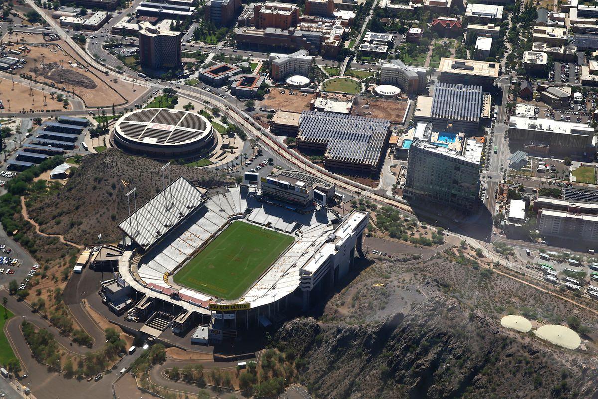 NCAA Football: Sun Devil Stadium Aerials