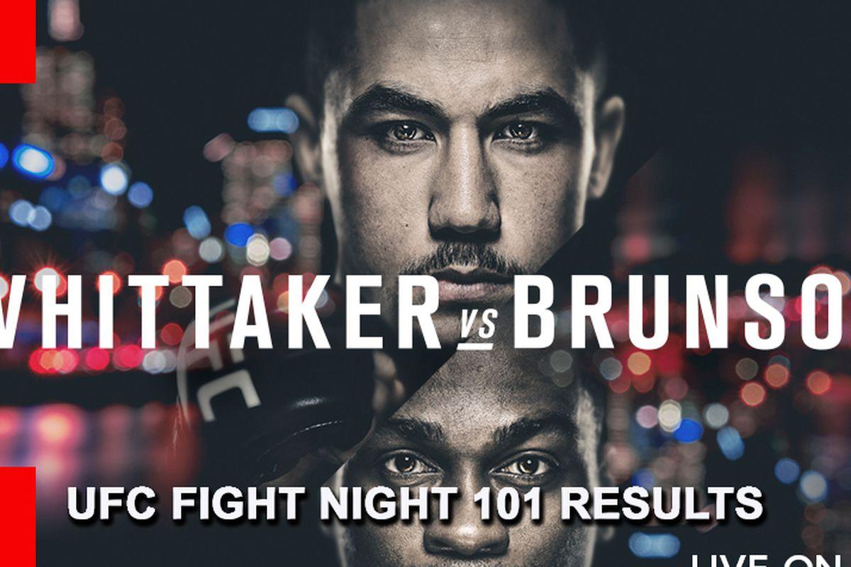 UFC Fight Night 101 live resul...