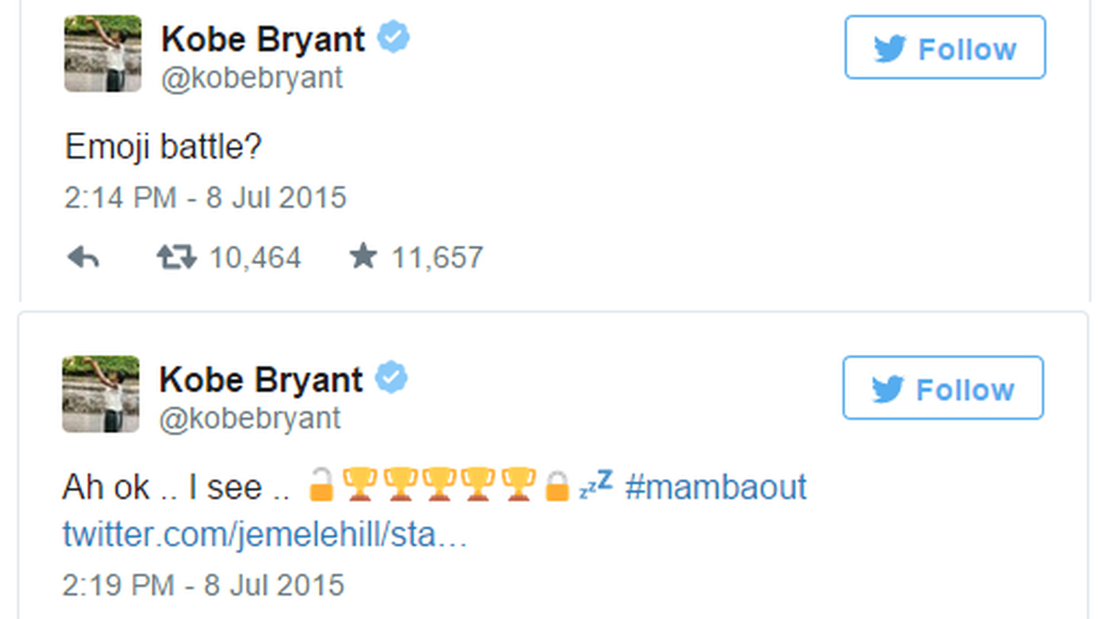 Kobe Bryant Joined The Nba Emoji Craze In The Most Kobe Bryant Way