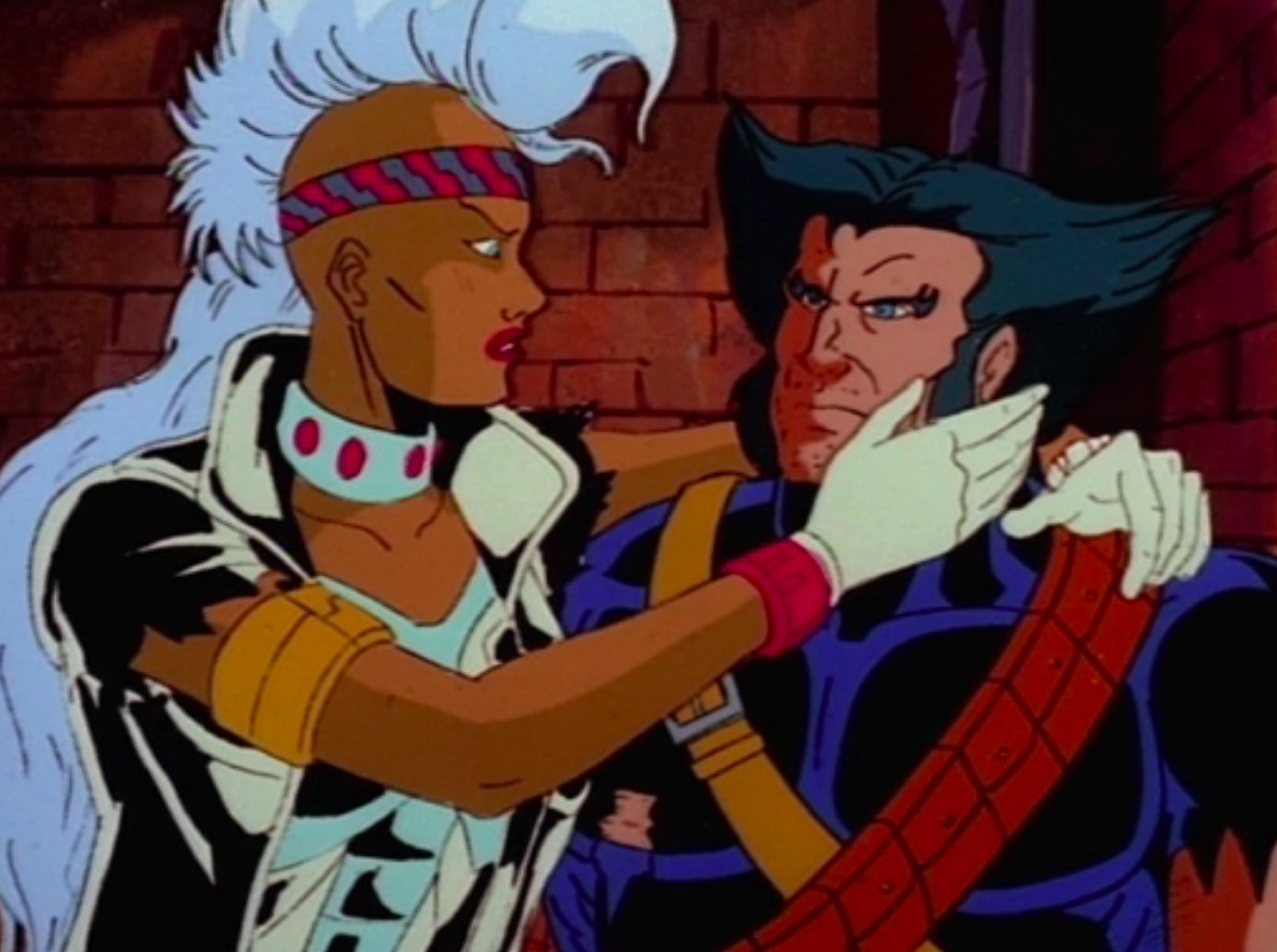 X-Men: The Animated Series: Mohawk Storm and Wolverine have a romantic moment