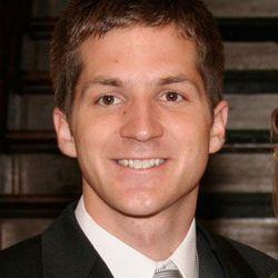 Close-up of John at his wedding in 2006, at age 23