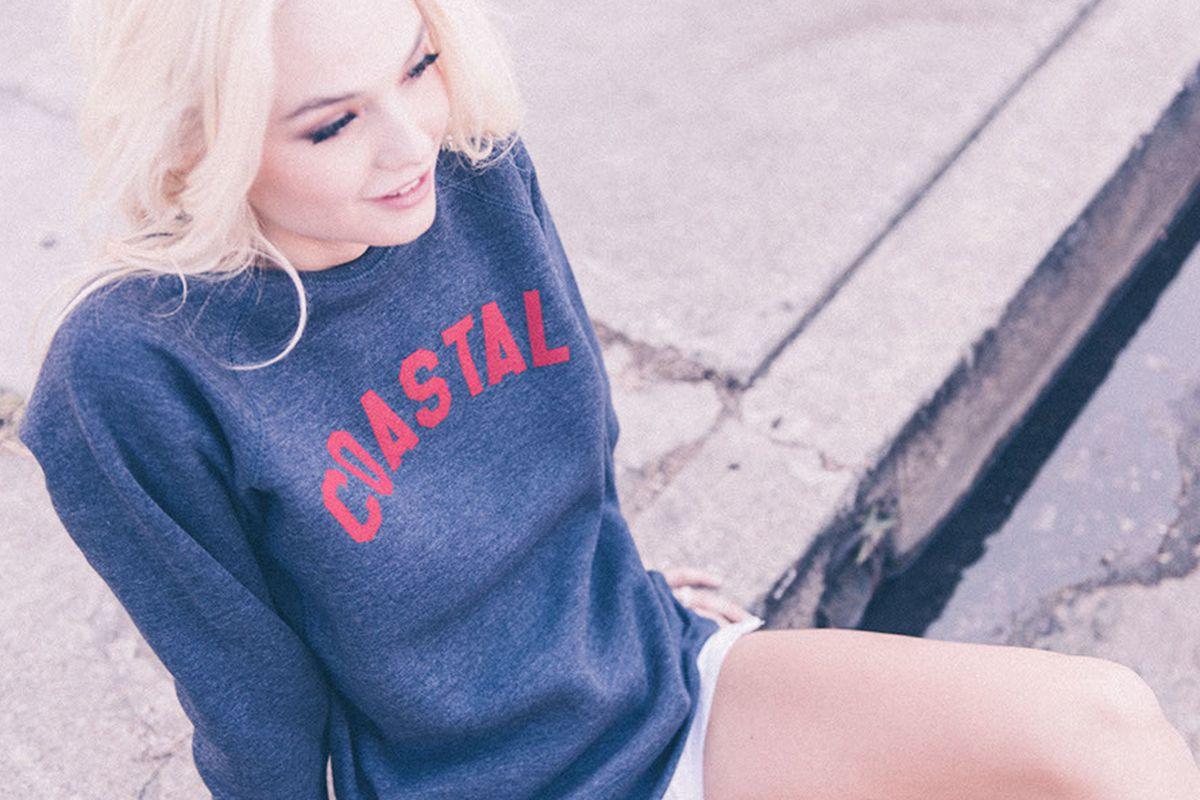 "Sub Urban Riot ""Coastal"" unisex crew sweatshirt, <a href=""http://www.suburbanriot.com/collections/womens-sweatshirts/products/coastal-unisex-crew"" target=""_blank"">$64</a>"
