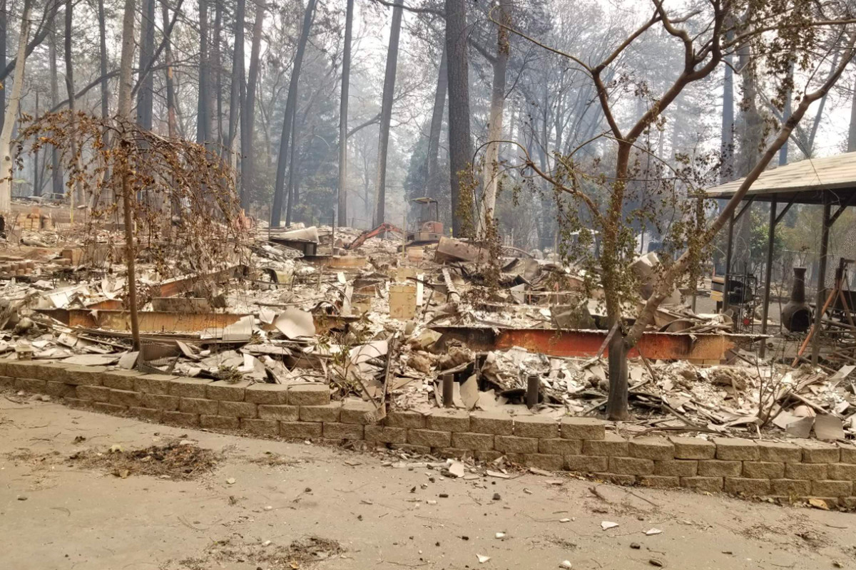 California Wildfire Map Shows Homes Destroyed The Camp Fire Curbed Sf