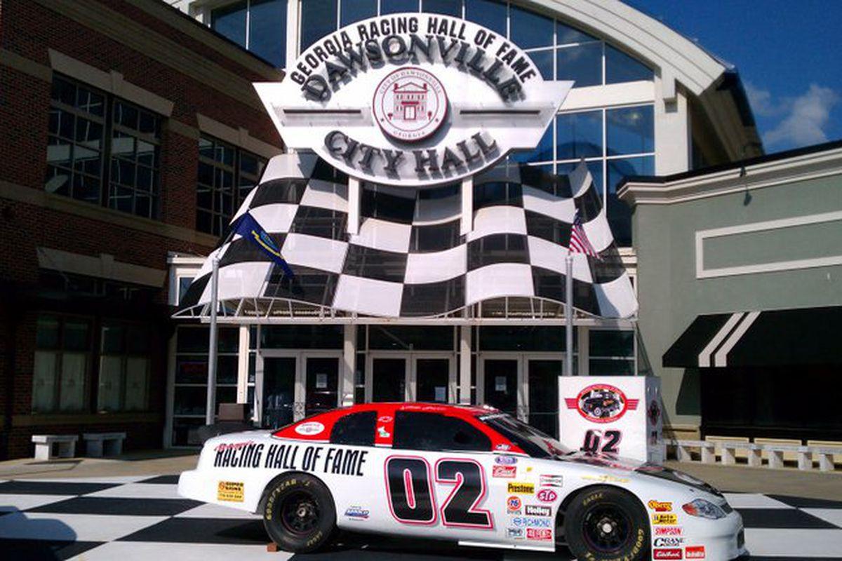 The entrance to the Georgia Racing Hall of Fame.