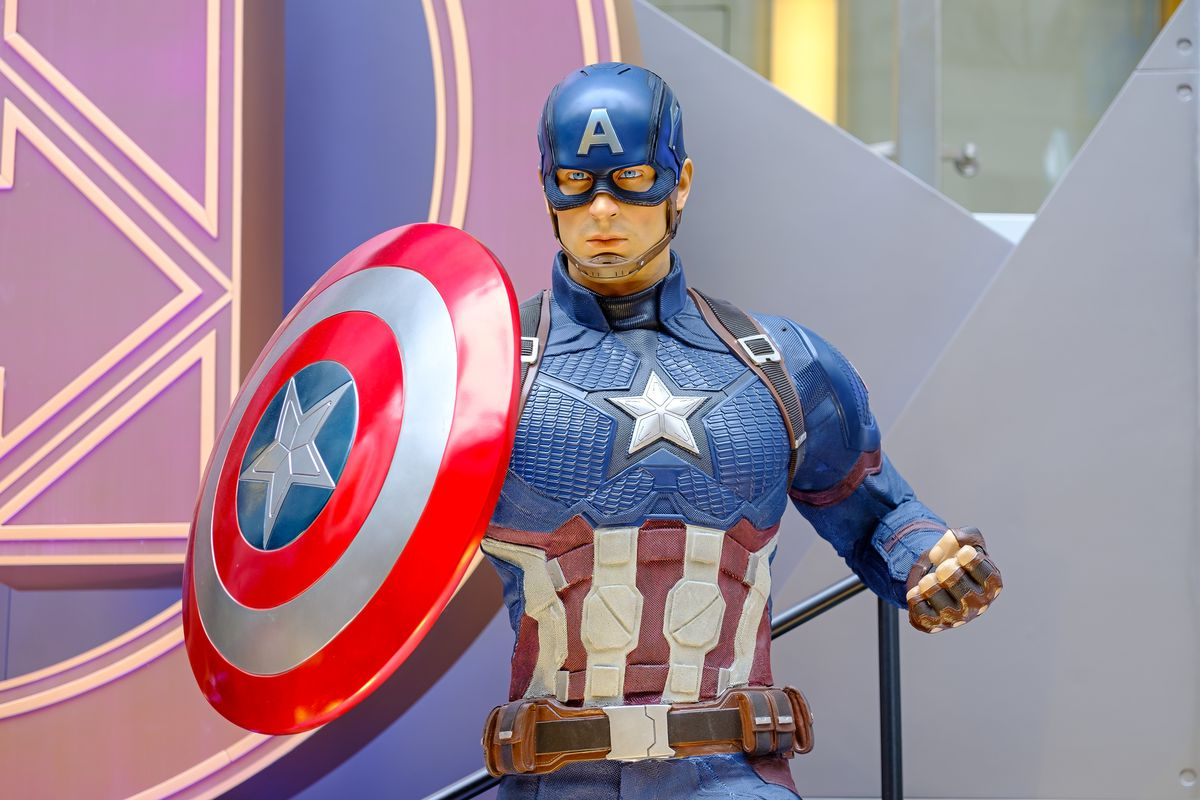 Captain America is a fictional character seen appearing in...