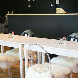"""Manicures and pedicures are also on the menu, and technicians use Morgan Taylor Lacquer. Unsurprisingly, Dieas says that """"Glowout loves a party,"""" and she'll gladly rent the space out for small, girly gatherings."""