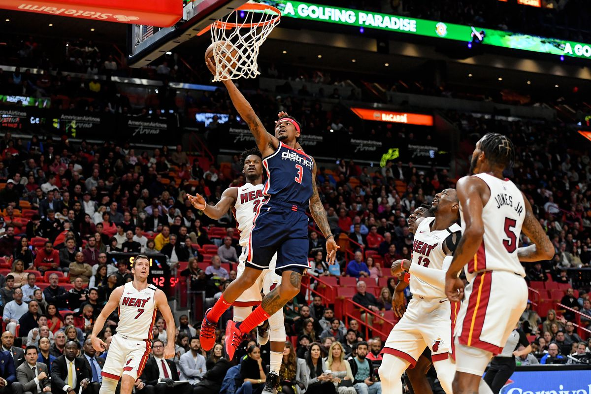 Washington Wizards Fail In Overtime Road Loss Against Heat 134 129 Bullets Forever
