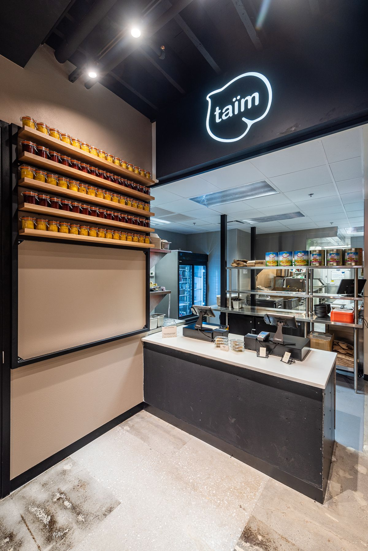 The ordering station at Taïm