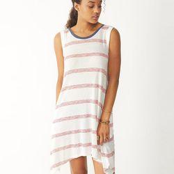 "Alternative Laguna wide striped dress, <a href=""http://www.alternativeapparel.com/featured/usa-collection/women/Laguna-Wide-Striped-Dress-14037EA"">$78</a>"