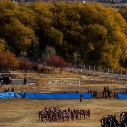 The 3A state cross-country championships are held at Soldier Hollow in Midway on Thursday, Oct. 22, 2020.