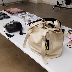 That white MM6 bag is going for $200.