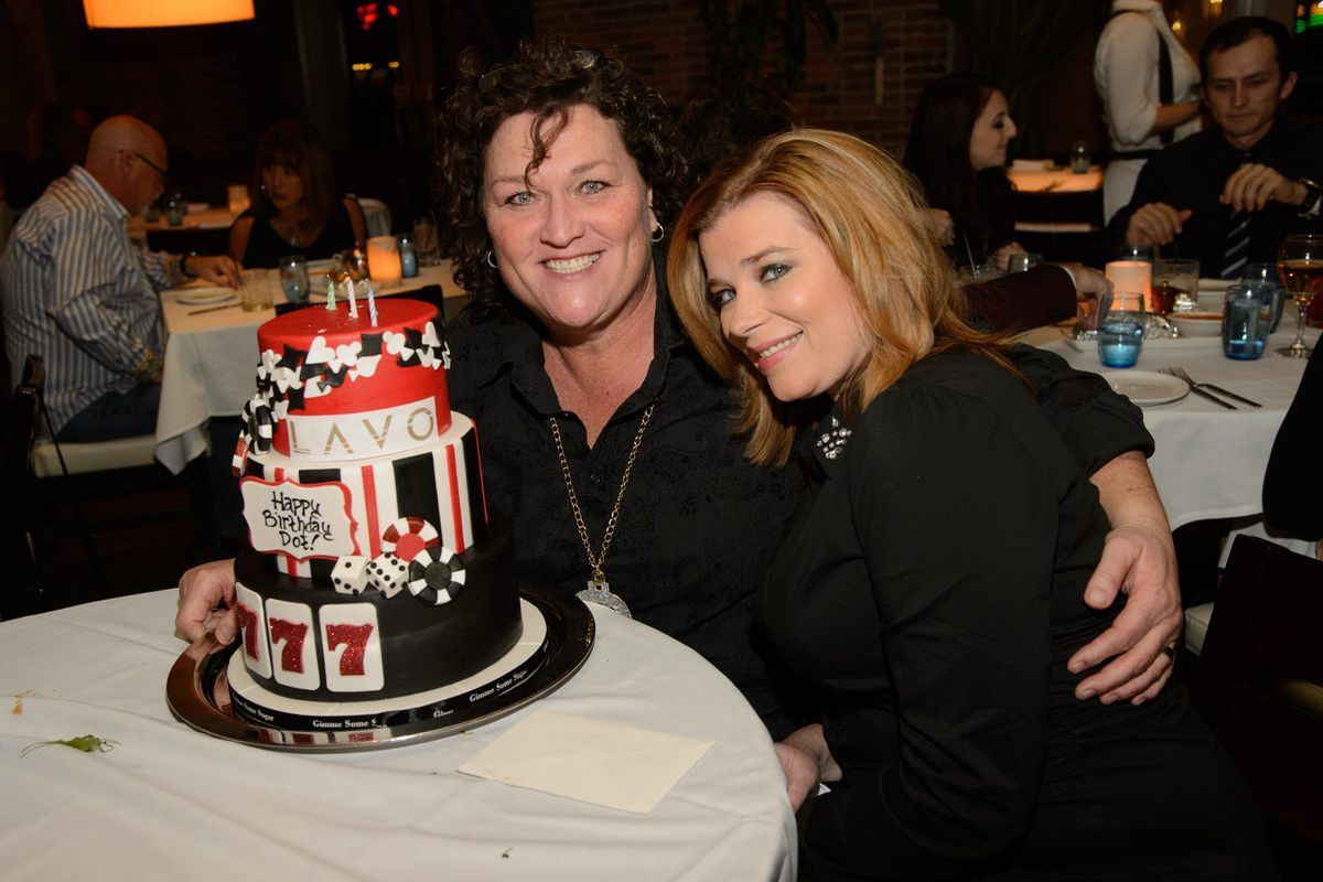 Dot Marie Jones and Bridget Casteen at Lavo Italian Restaurant. Photo: Al Powers/Powers Imagery
