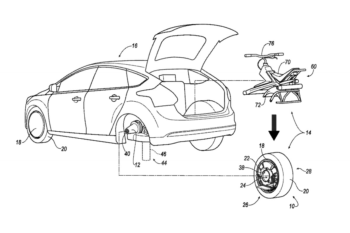 Ford Files Patent For Rear Tire That Converts Into An Electric