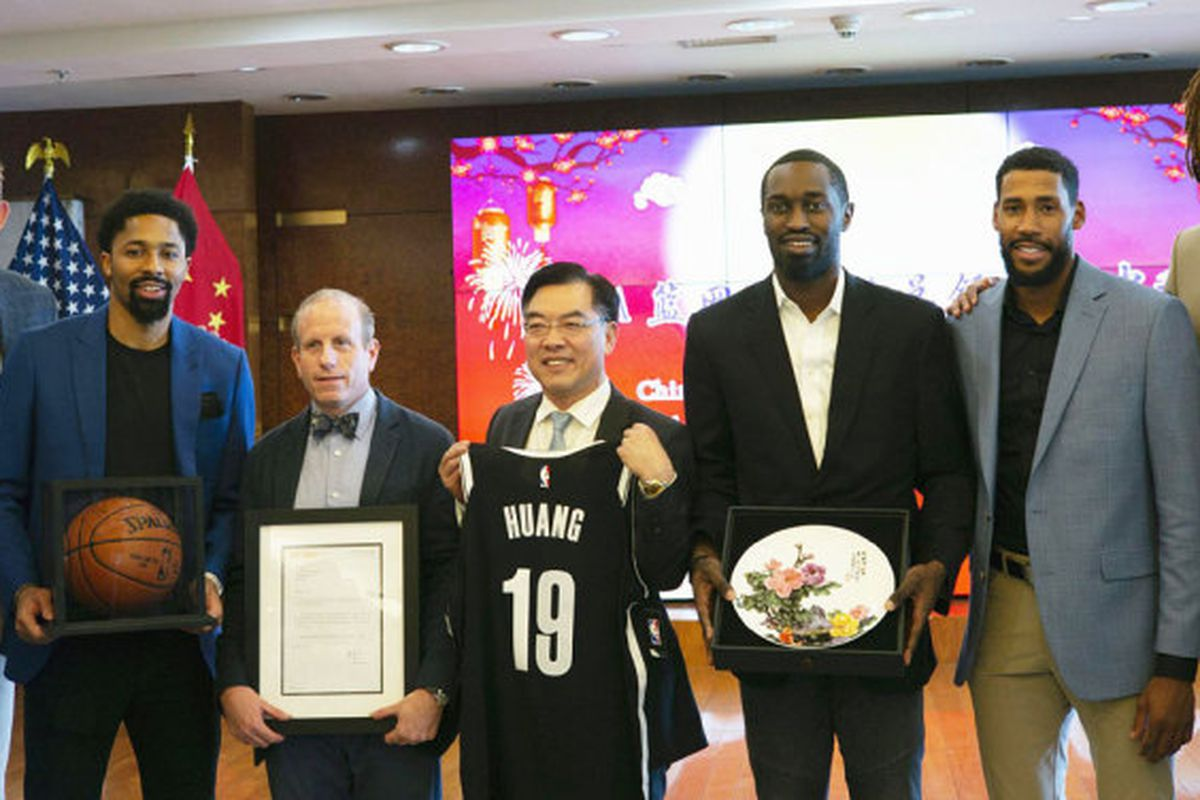 Chinese consulate hosts Nets in prelim to NBA China Games