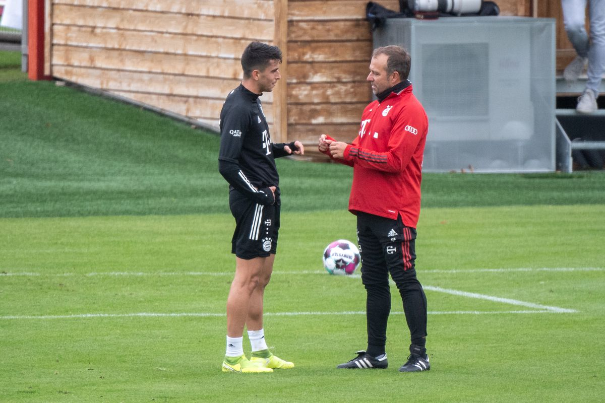 FC Bayern Training with newcomers