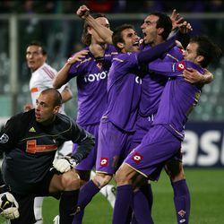 Dario celebrates Champions League goal against Debreceni in 2009