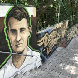 Murals of club legends, past glories and logos surround the outside of the Eduard Streltsov Stadium, and is one of the most-visited football stadia in the world as a result