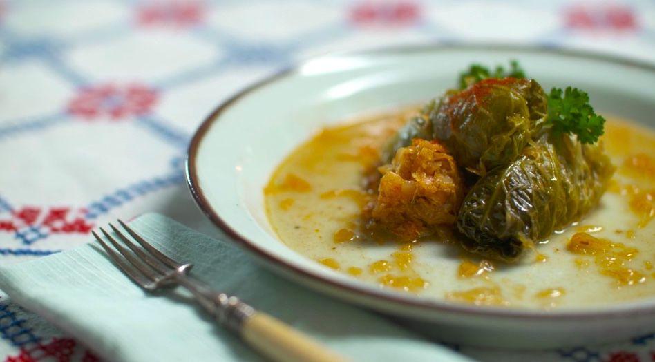 Stuffed cabbage from Eden Batki Pop-Up.