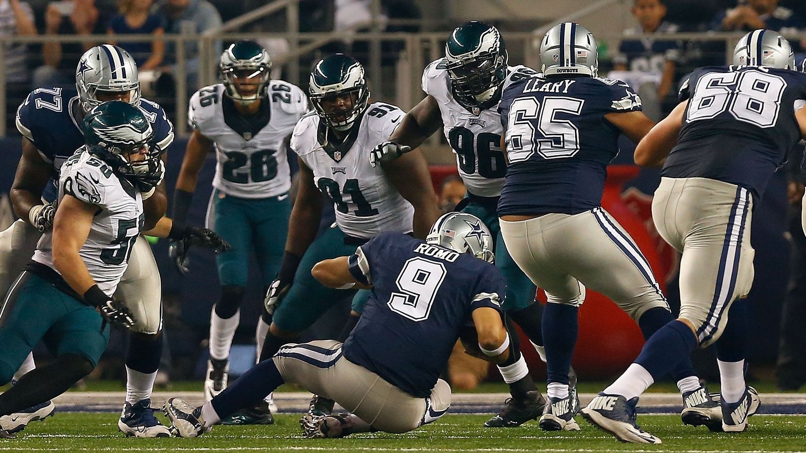 Sporting News provided live updates throughout the Eagles 379 win over the Cowboys on Sunday night