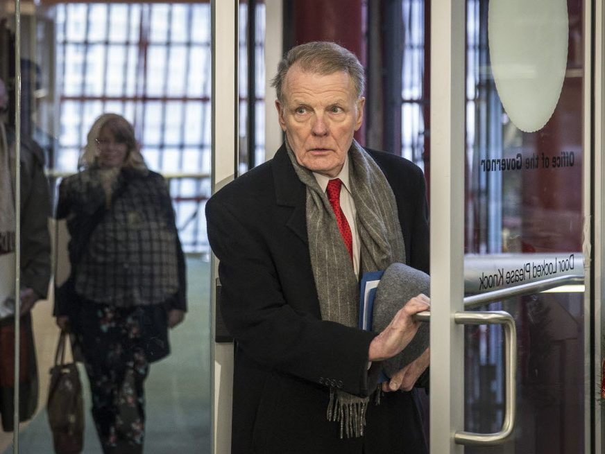 House Speaker Michael Madigan arrives for a leaders meeting at the Thompson Center in 2016. File Photo. | Rich Hein/Sun-Times