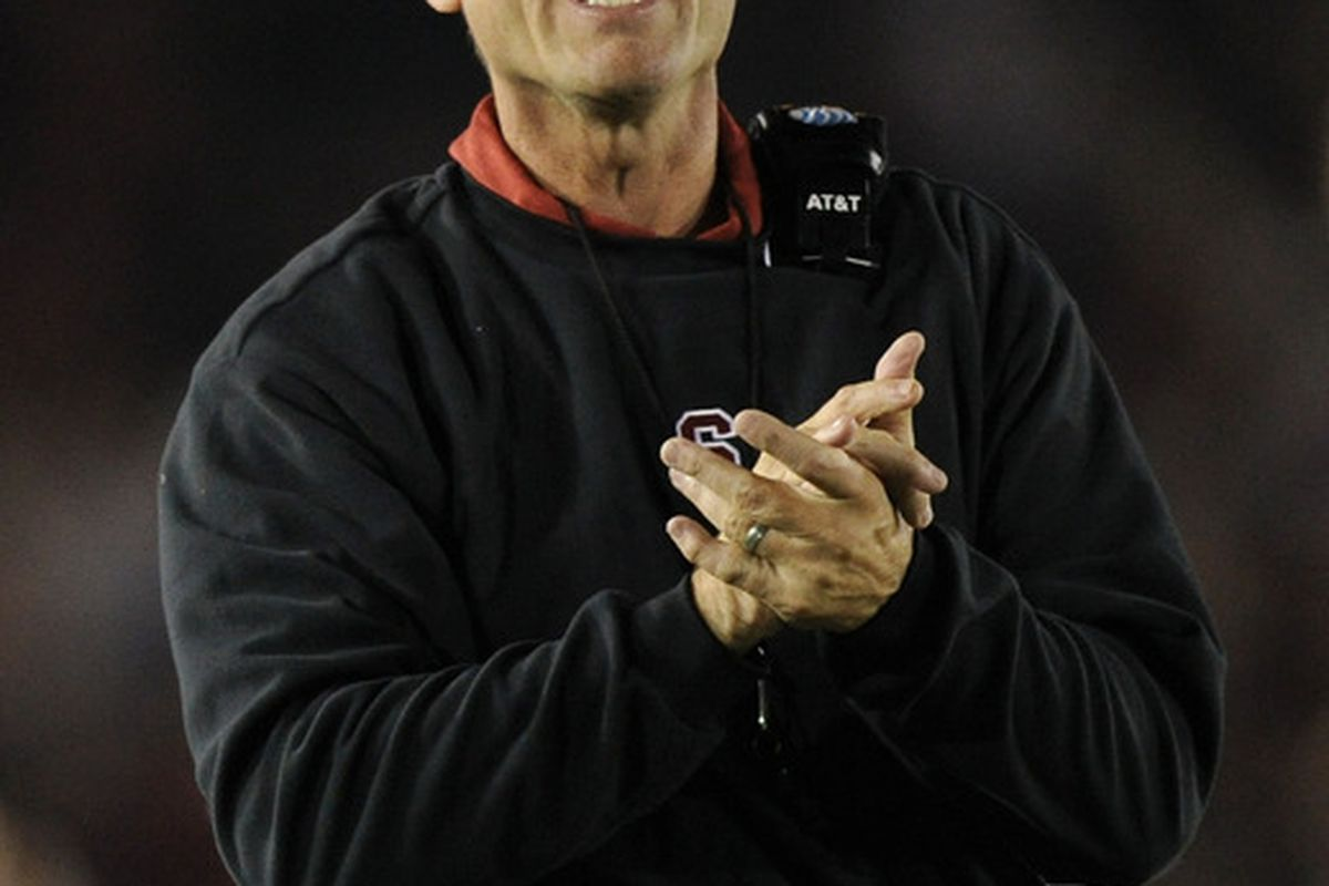 Jim Harbaugh looks to move the Cardinal to 3-0 in a late night game with Wake Forest.